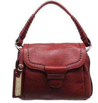 """Plinio Visona 12513"""" Ruby Red Leather Shoulder Bag"""