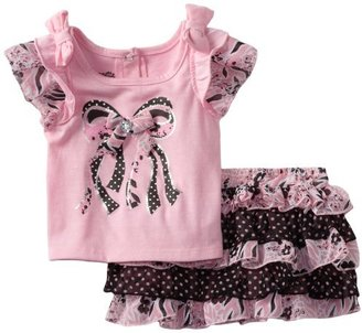 Nannette Baby-girls Infant 2 Piece Bow Scooter Set