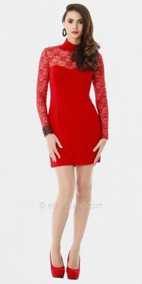 Red Lace Short Cocktail Dresses by Classique