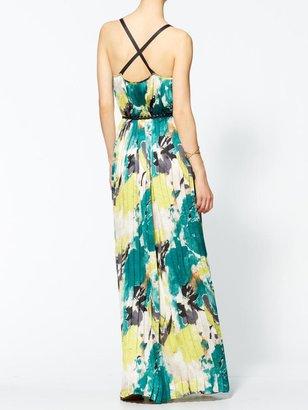 Rachel Zoe Sabine Santorini Pleated Maxi Dress