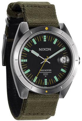 Nixon 'The Rover' Canvas Strap Watch