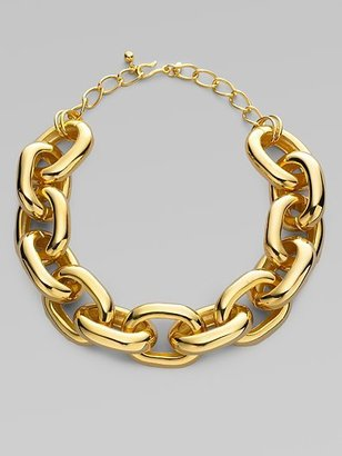 Kenneth Jay Lane Chunky Chain Necklace/Gold