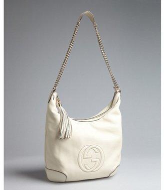 Gucci mystic white leather GG tassel chain shoulder bag