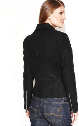 MICHAEL Michael Kors Coat, Wool-Blend Moto