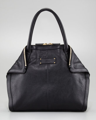 Alexander McQueen Leather De-Manta Tote Bag, Mini