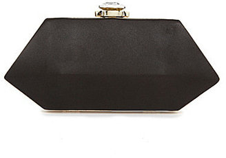 Kate Landry Social Satin Hex Box Frame Clutch