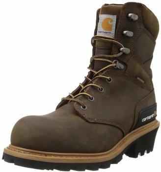 "Carhartt Men's 8"" Waterproof Composite Toe Leather Logger Boot CML8369"