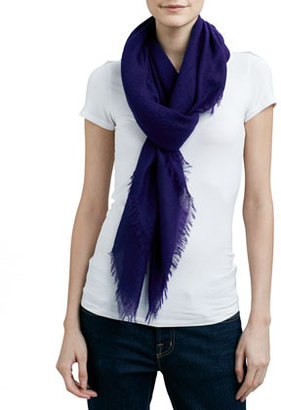 Sofia Cashmere Feather-Weight Cashmere Shawl, Ink Blue