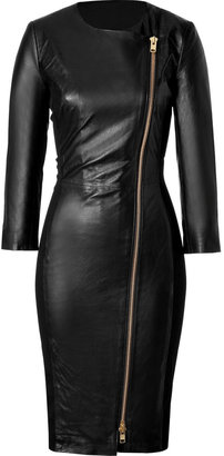 By Malene Birger Black Leather Mallisia Dress