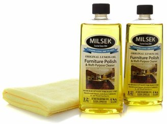 Milsek Orange Oil Wood Cleaner and Polish 2-pack with Cloth