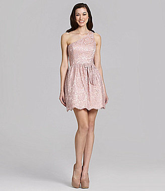 Jill Stuart Jill One-Shoulder Lace Dress