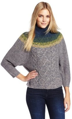 Corey Lynn Calter Women's Alice Mock Turtleneck Sweater with Ombre