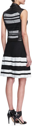 Ohne Titel Sleeveless Bold Stripe Dress, Black/White