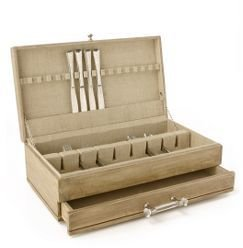 Anthropologie Acacia Flatware Box