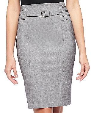 JCPenney Belted Pencil Skirt