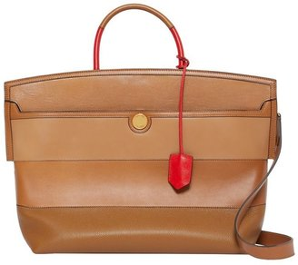 Burberry Panelled Leather Society Top Handle Bag