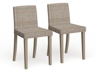 Safavieh Dining Rural Woven St. Croix Chic Wicker Grey Dining Chairs