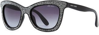 Jimmy Choo Flash Crystal Sunglasses, Black