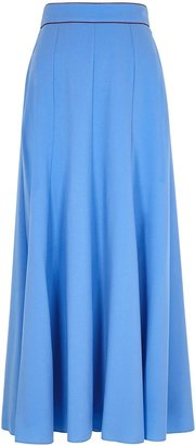 Roksanda Nusa Blue Maxi Skirt