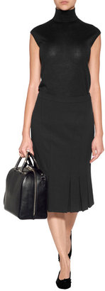 Michael Kors Cashmere-Silk Shell in Black