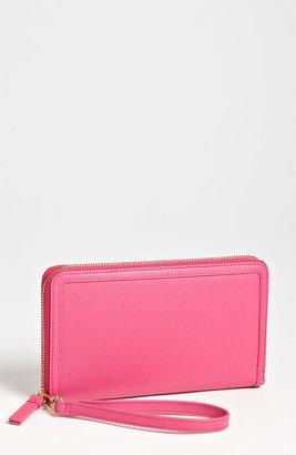 Halogen Zip Around Leather Travel Wallet