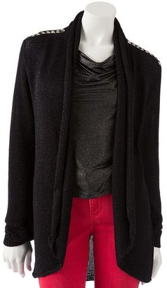 Rock & Republic Rock and republic embellished open-front cardigan