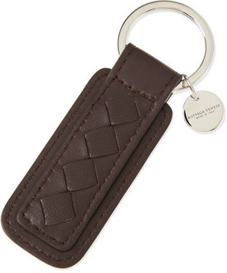 Bottega Veneta Intrecciato Key Chain, Brown