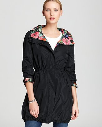 Moncler Eufrasia Reversible Floral Print Hooded Raincoat