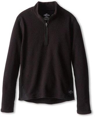 Hot Chillys Kids La Montana Zip Top (Little Kid/Big Kid) (Black/Black) Kid's Long Sleeve Pullover