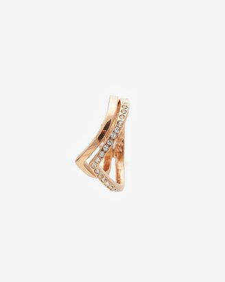 Vita Fede Exclusive Ultra Mini Double V Ring: Rosegold