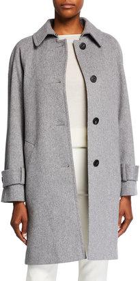Fleurette Wool Four-Button Coat