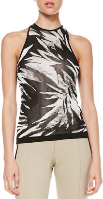 Jason Wu Botanical Knit Halter Tank