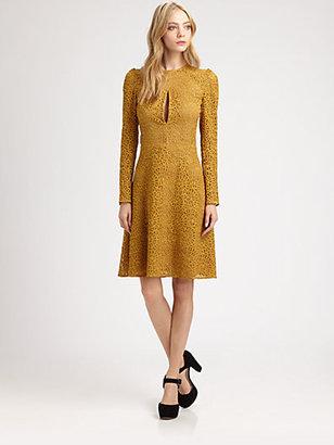 Carven Lace Keyhole Dress