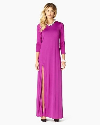 Juicy Couture Solid Long Sleeve Maxi Dress