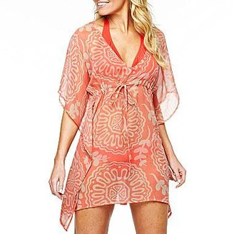 JCPenney Colorplay Sandollar Butterfly Kimono Swim Cover Up