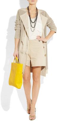 Bottega Veneta High-waisted cotton-gabardine shorts