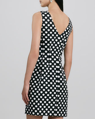 Kate Spade Domino Sleeveless Apple-Print Dress