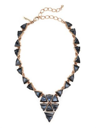 Oscar de la Renta Triangle Motif Swarovski Necklace