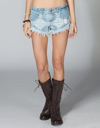Billabong Lanew Womens Denim Cutoff Shorts