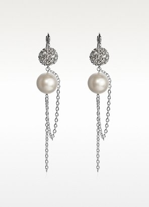 Swarovski CRYSTALLIZEDTM Liquid Pearl Long Earrings