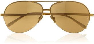 Linda Farrow Aviator-style gold-plated sunglasses