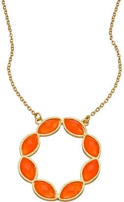 Blu Bijoux Gold Plated Wreath Necklace
