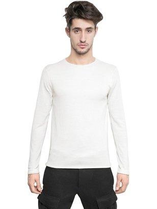 Neil Barrett Raw Cut Wool/Silk Blend Knit Sweater