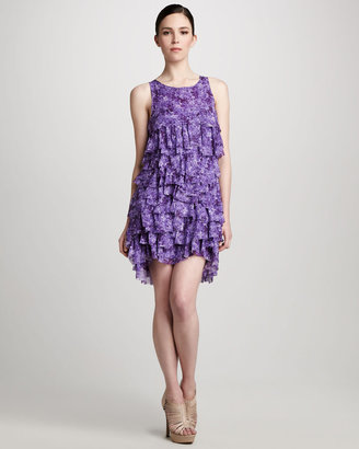 Michael Kors Ruffled Chiffon Dress