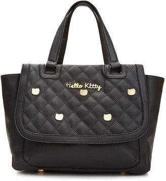 Hello Kitty Quilted Stud Satchel