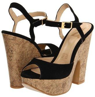 Type Z Kagee Cork Heel (Black) - Footwear