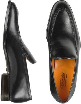 Brunori Men's Black Italian Genuine Leather Loafer Shoes