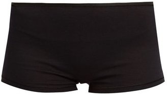 Hanro Seamless Cotton Boy-short Briefs - Womens - Black