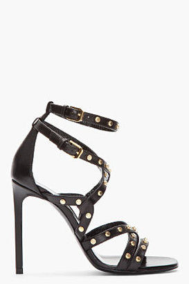 Saint Laurent Black studded Jerry gladiator Sandal pumps