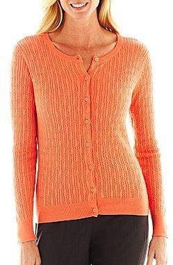 Liz Claiborne Cable Knit Cardigan Sweater